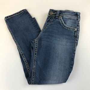 Silver Jeans Jeans - Silver Jeans Denim Suki Capri W26 Medium Wash